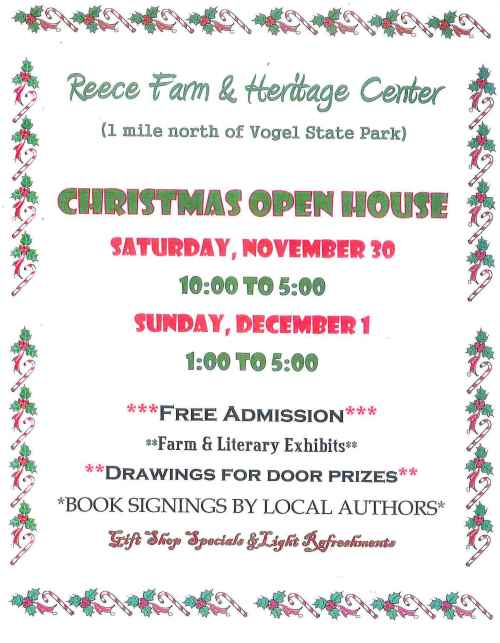 Join us for our annual holiday Open House November 30 and December 1. Great gifts - shop local!